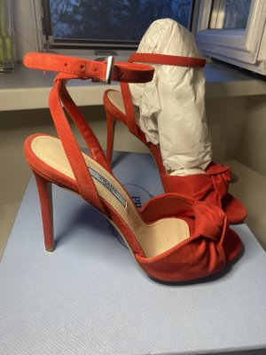 Prada High Heel Sandal red