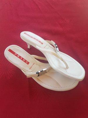PRADA Sandaletten weiß/ Gr.36