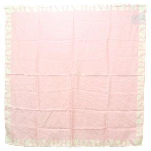 Prada Gebreide sjaal rosé Zijde