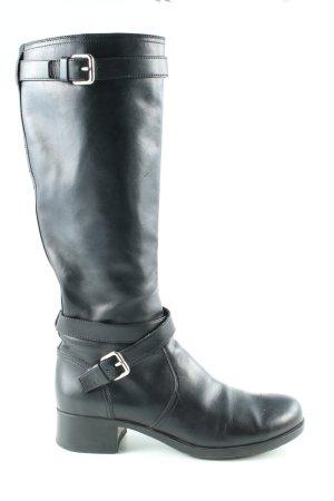 Prada Botas estilo militar negro look casual