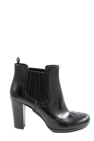 Prada Schlüpf-Stiefeletten schwarz Casual-Look