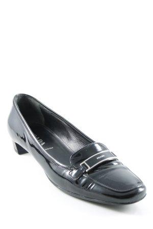 Prada Schlüpfschuhe schwarz-silberfarben Business-Look