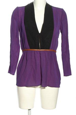Prada Tie-neck Blouse lilac-black casual look