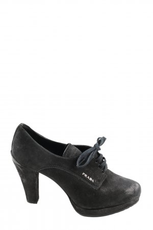 Prada Schnürschuhe schwarz Motivdruck Casual-Look