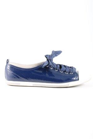Prada Schnürsneaker blau-weiß Casual-Look