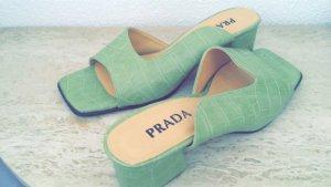 Prada Sandalo con tacco verde chiaro