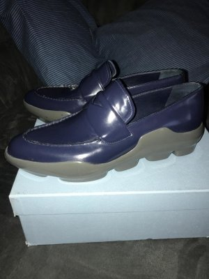 Prada Slippers dark blue leather