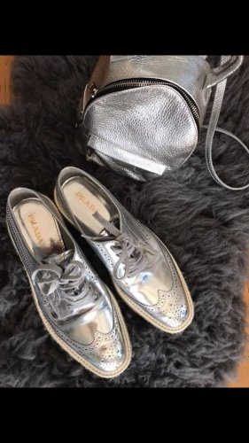 Prada Oxfords silver-colored