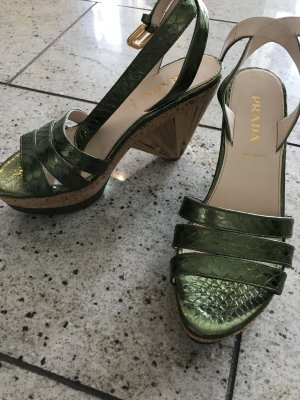 Prada Schuhe mit Bast