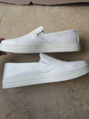 Prada Zapatos formales sin cordones blanco