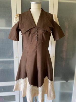 Prada Seiden Kleid Vintage Stil Gr 36 top