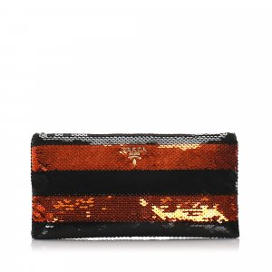 Prada Sequin Embellished Clutch Bag