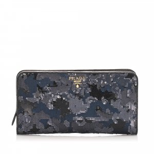 Prada Sequin Embellished Wallet