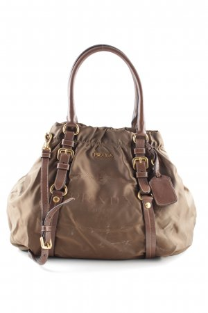 Prada Shopper braun Motivdruck Business-Look