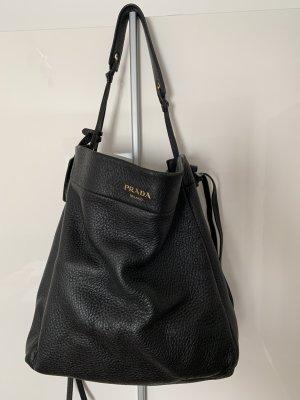Prada Pouch Bag black leather