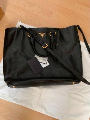Prada Shopper zwart-goud