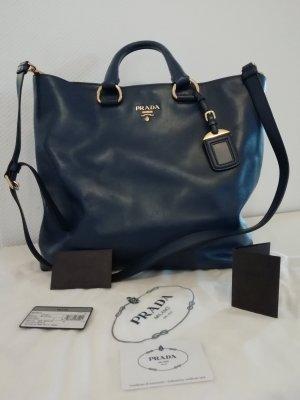 prada Shopper tasche blau wie neu