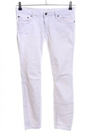 Prada Jeans slim blanc style décontracté
