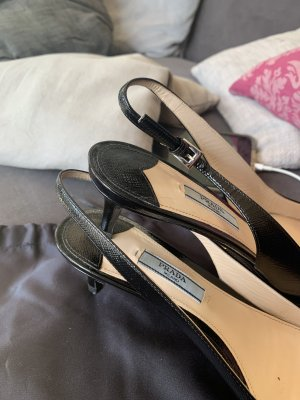 Prada Slingback Pumps black leather
