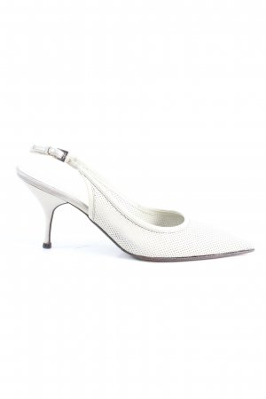 Prada Slingback-Pumps weiß Business-Look