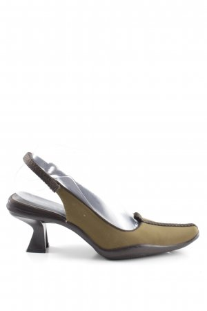 Prada Slingback Pumps khaki casual look