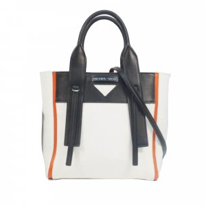 Prada Small Ouverture Canvas Tote