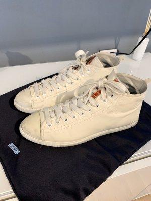 Prada Lace-Up Sneaker white