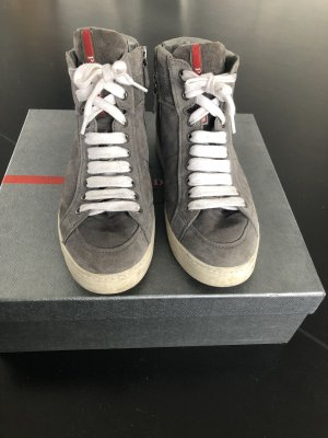 Prada High Top Sneaker grey