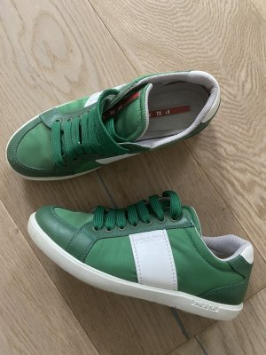 Prada Lace-Up Sneaker green-white