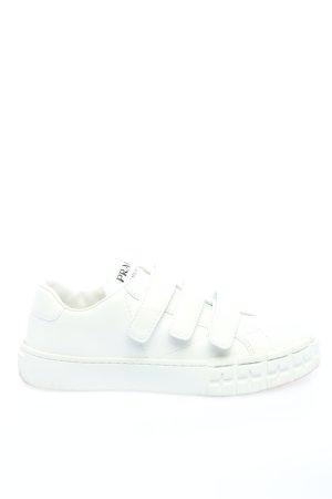 Prada Sneaker Klettverschluss weiß Casual-Look