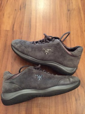Prada Lace-Up Sneaker dark grey