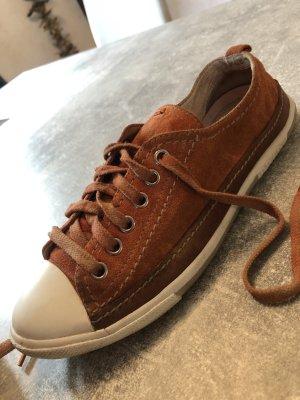 Prada Sneakers met veters roodbruin Leer