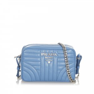 Prada Crossbody bag blue leather