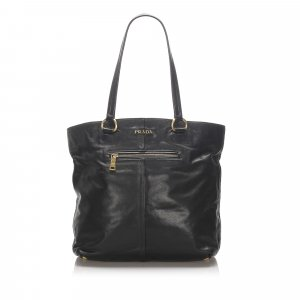 Prada Soft Calf Leather Tote Bag