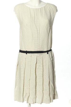 Prada Summer Dress natural white-black striped pattern casual look