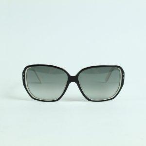 Prada Occhiale da sole spigoloso nero-bianco