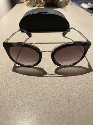 Prada Okulary motylki szary-ciemnoszary