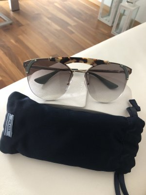 Prada Retro Glasses brown-cadet blue