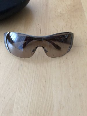 Prada Sunglasses dark brown-silver-colored