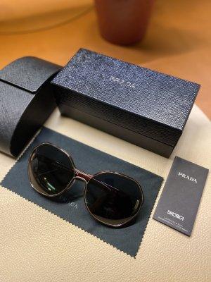 Prada Gafas de sol redondas negro-rojo oscuro