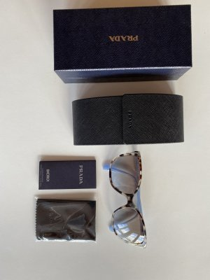 Prada Butterfly Glasses azure-light brown synthetic material