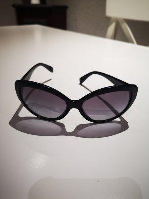 Prada Occhiale da sole ovale nero
