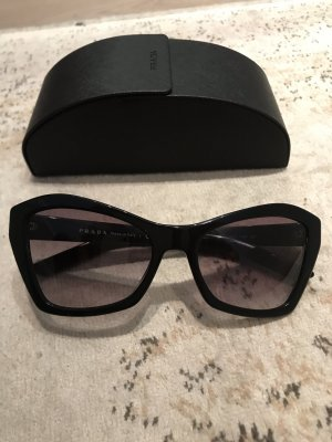 Prada Angular Shaped Sunglasses black