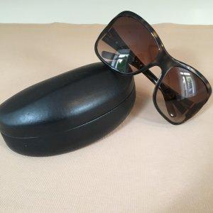 Prada Angular Shaped Sunglasses dark brown-brown