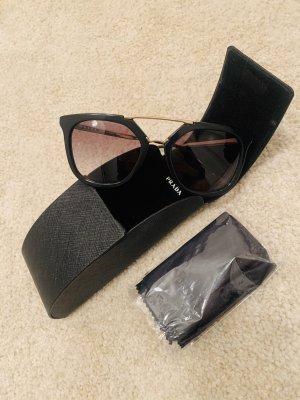 Prada Angular Shaped Sunglasses black-gold-colored