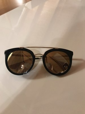 Prada Ronde zonnebril zwart-goud