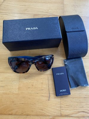 Prada Oval Sunglasses blue-bronze-colored mixture fibre