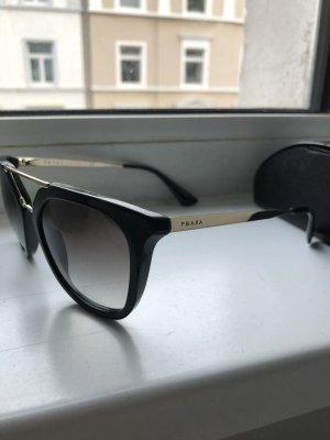 Prada Okulary motylki czarny-złoto