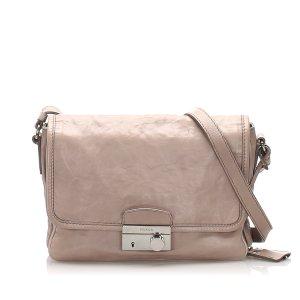 Prada Sound Leather Crossbody Bag