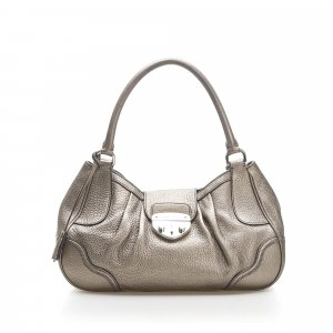 Prada Sound Lock Leather Shoulder Bag